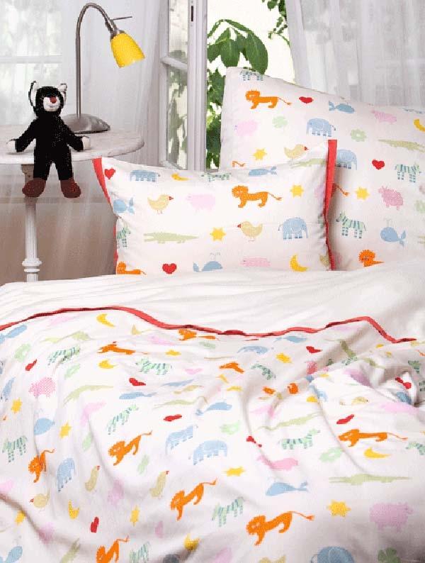 Kinderbettwäsche Bio Satin Arche Noah Kinderbettwäsche