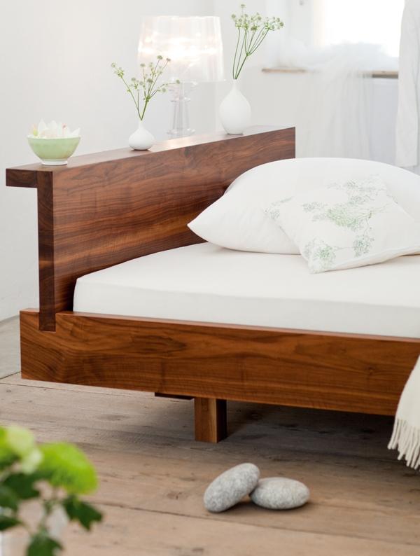 Bett nussbaum 180x200 free bett x cm mit sonoma eiche for Bett und tuch