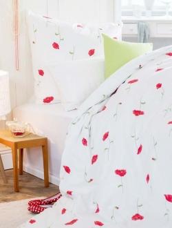 Bio feinbiber blumenmuster bettw sche for Bett und tuch