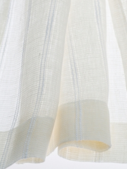 Edles Käseleinen Streifen Pia, 170 cm breit | Transparent |