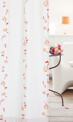 Blumenmuster blickdicht vorh nge gardinen for Bett und tuch