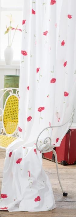 Blumenmuster vorh nge gardinen for Bett und tuch
